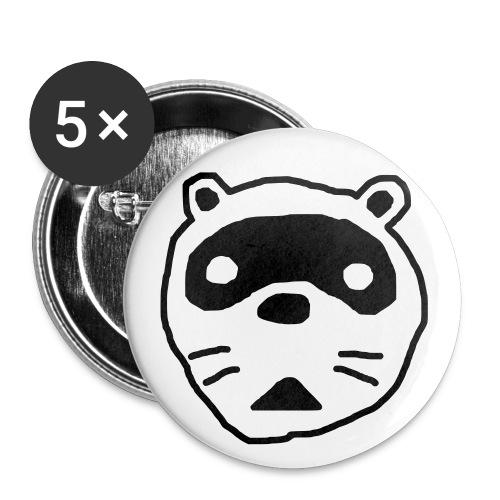 Team Tvättbjörn Knapp - Stora knappar 56 mm (5-pack)