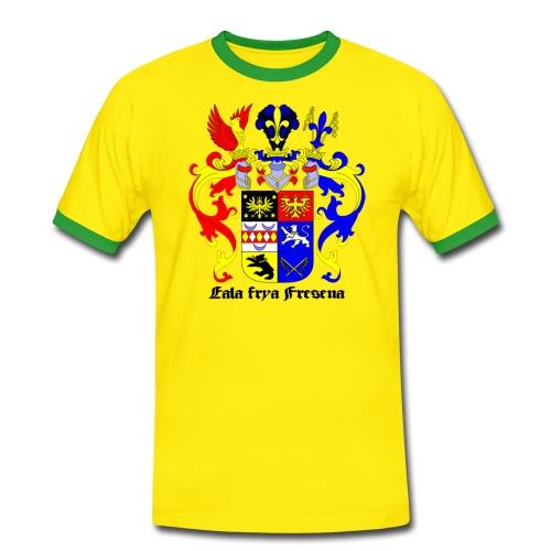 Männer Kontrast-T-Shirt - Emden Aurich Leer Norden Esens Wittmund Ostfriesland Norddeutschland deutschland Wappen symbol