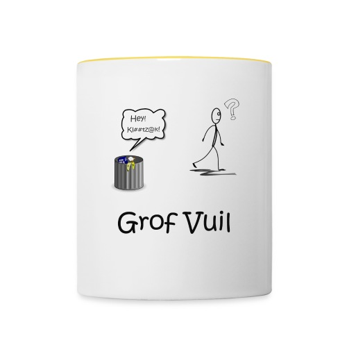 Grof Vuil - Mok tweekleurig