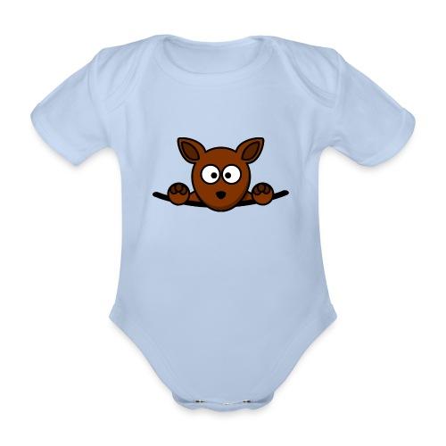 Kangoeroe - Baby bio-rompertje met korte mouwen