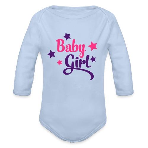 Body til jente - Økologisk langermet baby-body