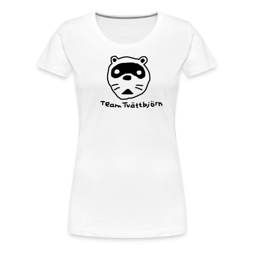 Team Tvättbjörn Dam Vit - Premium-T-shirt dam