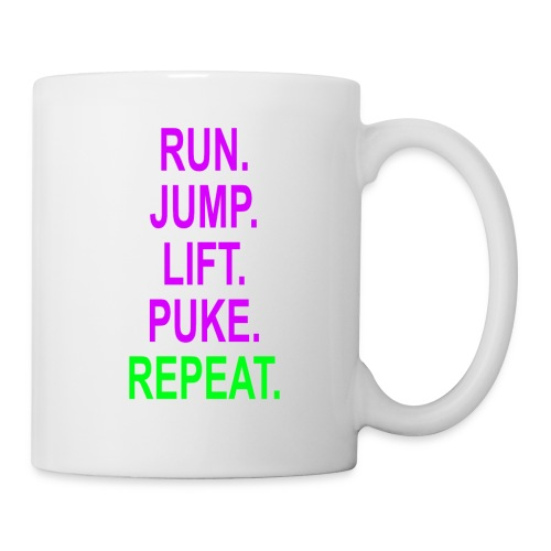 Run. Jump. Lift. Puke. Repeat. Mug - Mug