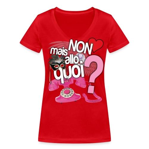 T-SHIRT NABILLA NON MAIS ALLO QUOI  - T-shirt bio col V Stanley & Stella Femme