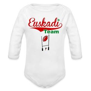 Euskadi team tee shirt - Body bébé bio manches longues