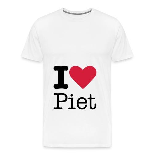 Mannen Premium T-shirt - Hou jij ook zo van zwarte piet?
