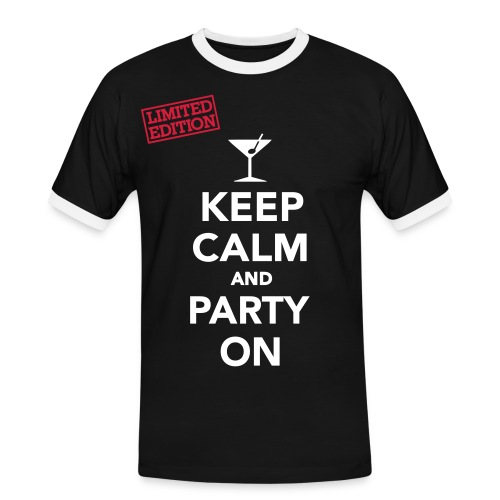 Keep Calm and Party On - Men's Ringer Shirt