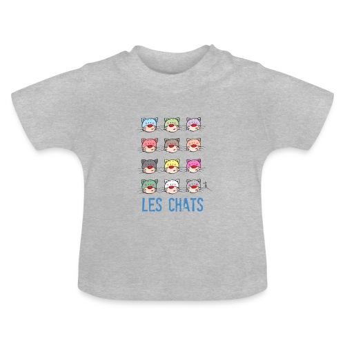 t shirt bébé - les chats - T-shirt Bébé