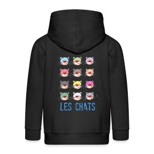 veste à capuche enfant - les chats - Veste à capuche Premium Enfant