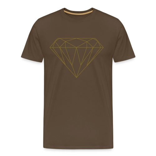 Gold on brown - T-shirt Premium Homme