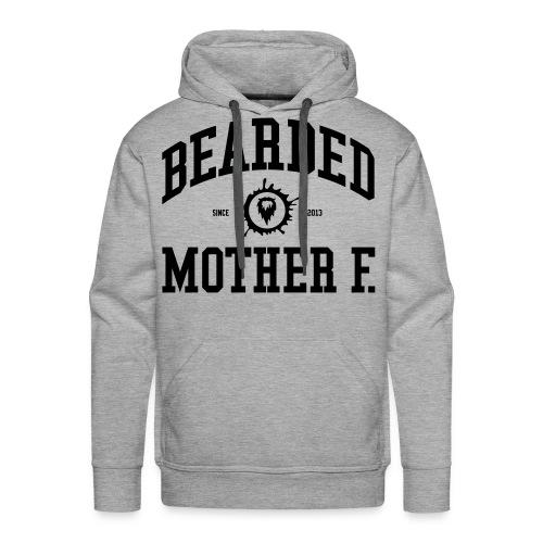 Bearded Mother F. - Men's Hoodie (Black print) - Mannen Premium hoodie