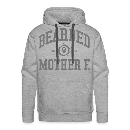 Bearded Mother F. - Men's Hoodie (Grey print) - Mannen Premium hoodie