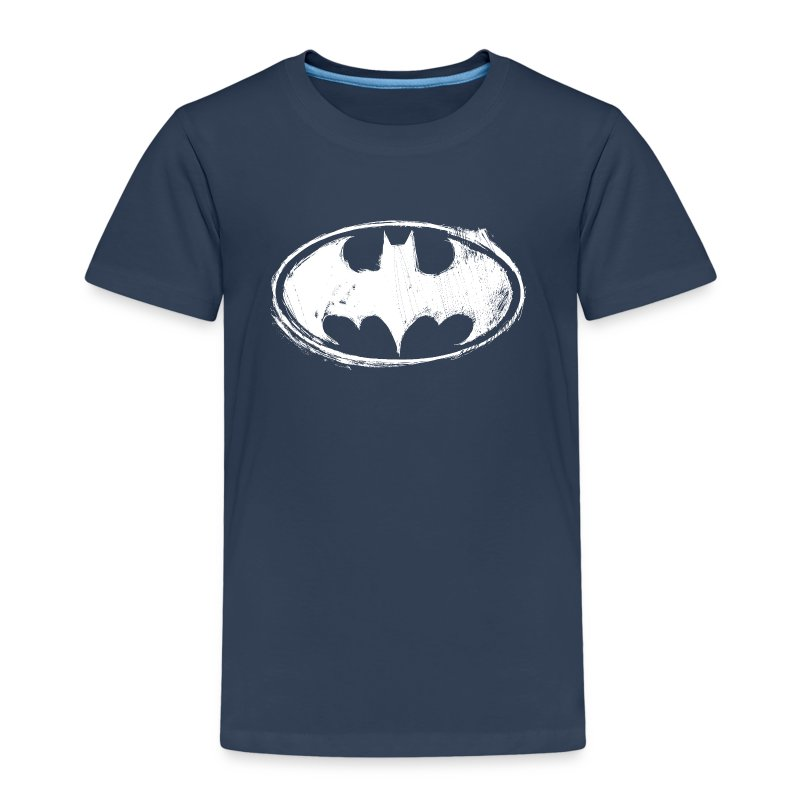 batman logo wei kinder t shirt t shirt spreadshirt. Black Bedroom Furniture Sets. Home Design Ideas