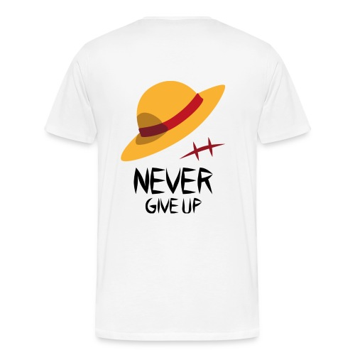 Never Give Up - Monkey D. Ruffy - Männer Premium T-Shirt