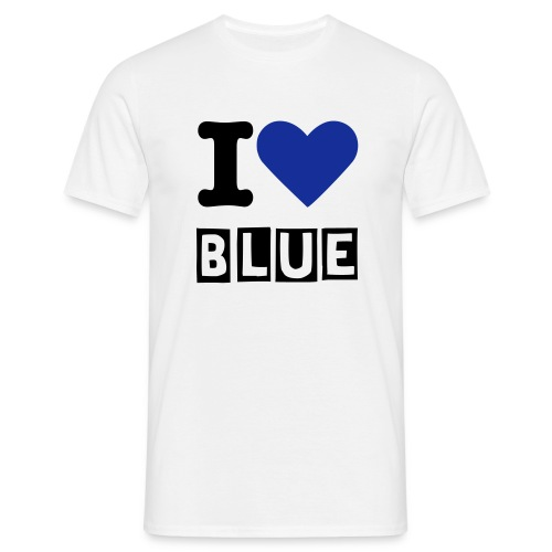 I LOVE BLUE - Männer T-Shirt