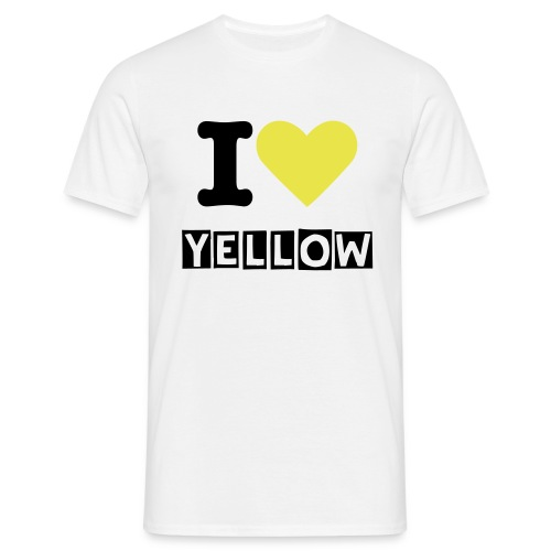I LOVE YELLOW - Männer T-Shirt