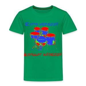 Rytmi Veressä - Lasten premium t-paita