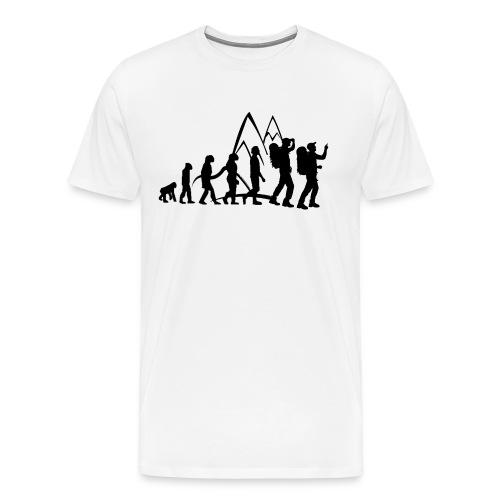 Hikaholics evolutie shirt - Mannen Premium T-shirt