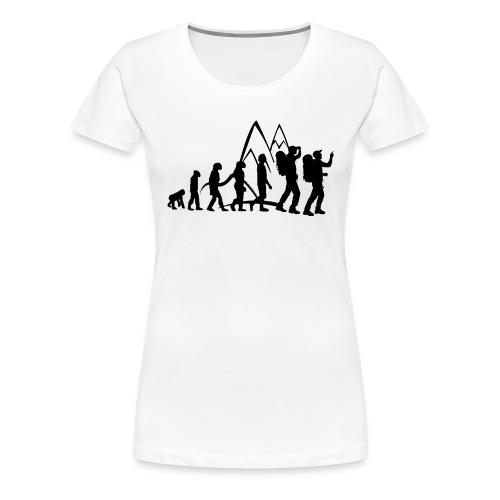 Hikaholics evolutie dames shirt - Vrouwen Premium T-shirt