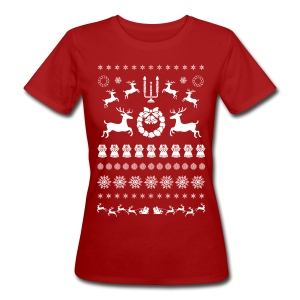 Retro Ugly Christmas - Vrouwen Bio-T-shirt