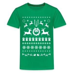 Retro Ugly Christmas - Teenager Premium T-shirt