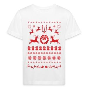 Retro Ugly Christmas - Kinderen Bio-T-shirt