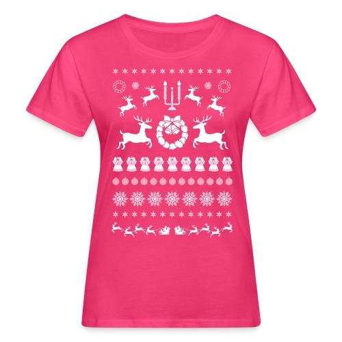 Retro Ugly Christmas - Vrouwen Bio-T-shirt