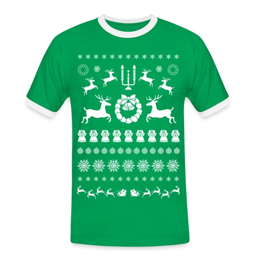 Retro Ugly Christmas - Mannen contrastshirt