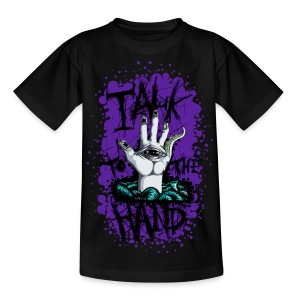 Teenage T-shirt - blood,gore,hand,psychedellic,talk to the hand