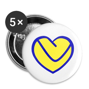 LUFC Heart - Buttons small 25 mm