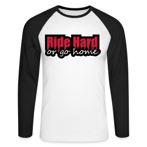 RETRO RIDE HARD LONG SLEEVED MENS SWEATER - Men's Long Sleeve Baseball T-Shirt