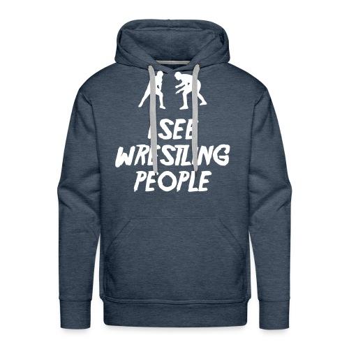 Wrestling people / Fighters hoodie - Men's Premium Hoodie
