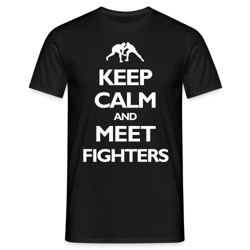 Keep Calm / Fighters black T-shirt - Men's T-Shirt