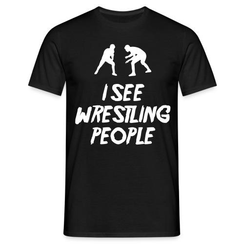 Wrestling People / Fist black T-shirt - Men's T-Shirt