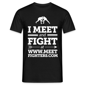 Meet and Fight / Fighters black T-shirt - Men's T-Shirt