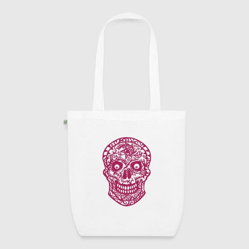 Stoffen Tas Design : Mexicaanse bloemrijke schedel stoffen tas spreadshirt