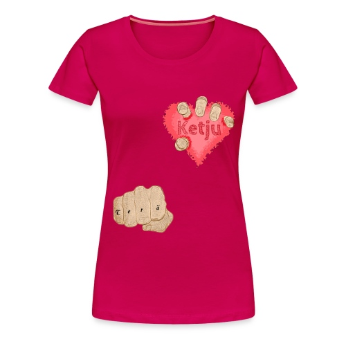 Teräketju Hirviö - Naisten premium t-paita