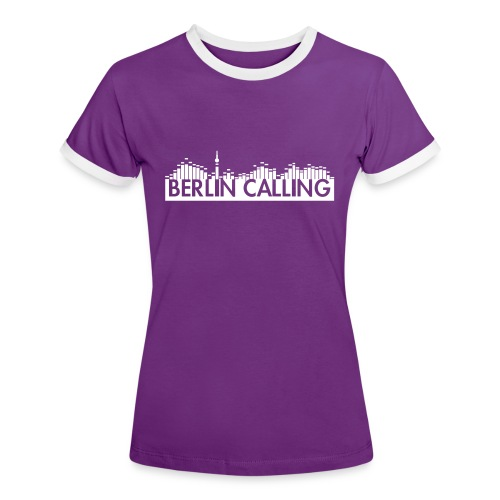 Frauen Kontrast-T-Shirt - Official Product of the Berlin Calling Motive from Paul Kalkbrenner.