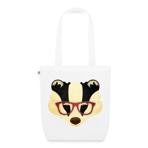 Hipster Badger - EarthPositive Tote Bag
