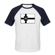 T-Shirts ~ Männer Baseball-T-Shirt ~ WinterBoarderLand flagball shirt