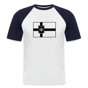 WinterBoarderLand flagball shirt - Männer Baseball-T-Shirt