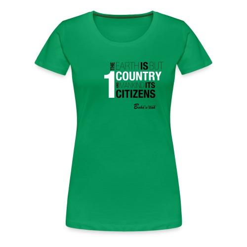 ONE COUNTRY - Slim Fit /w - Women's Premium T-Shirt