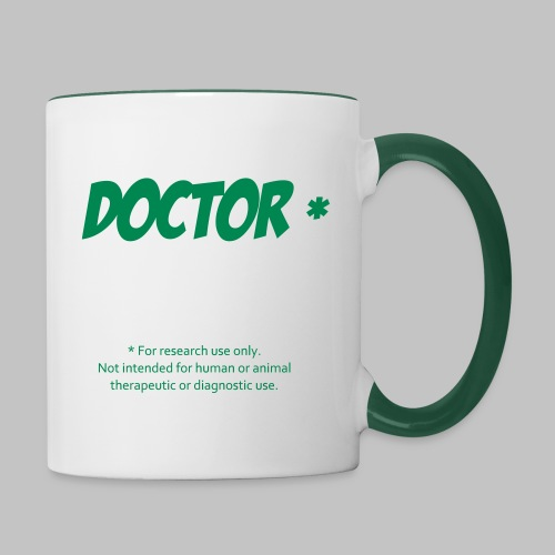 Tasse (mug) Doctor Green - Contrasting Mug