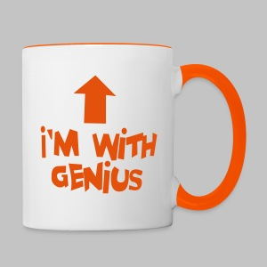 Tasse (mug) I'm with genius Orange - Contrasting Mug