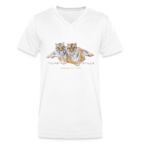 T-Shirt Homme V Toumaï et Atilla - T-shirt bio col V Stanley & Stella Homme