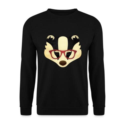 Hipster Badger - Men's Sweatshirt