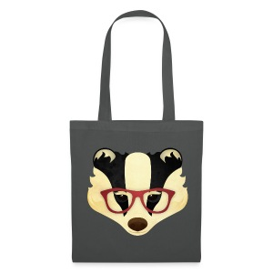 Hipster Badger - Tote Bag