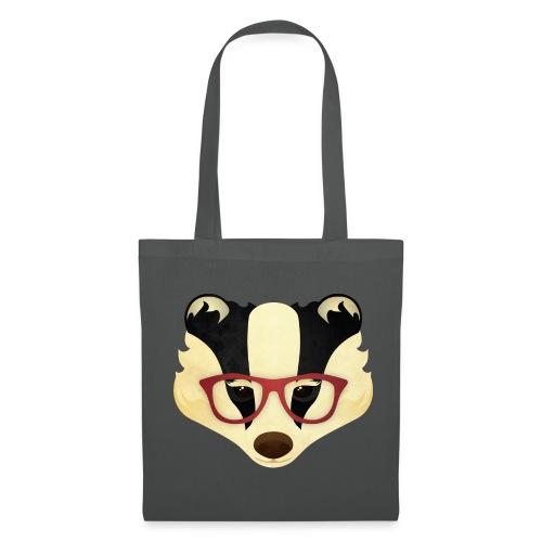 Hipster Badger - Tote Bag