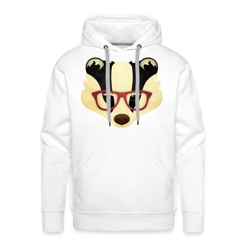 Hipster Badger - Men's Premium Hoodie