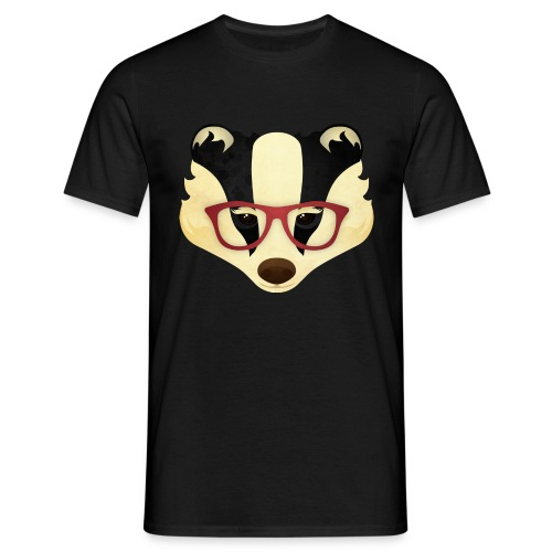 Hipster Badger - Men's T-Shirt